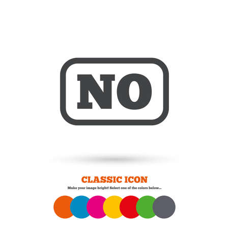 norwegian: Norwegian language sign icon. NO Norway translation symbol with frame