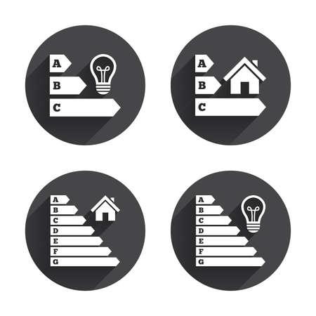 eficiencia energetica: Energy efficiency icons Vectores