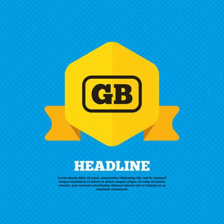 gb: British language sign icon. GB Great Britain translation symbol with frame