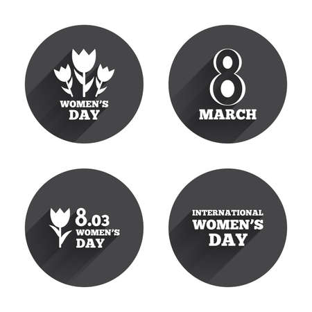 8 march: 8 March Womens Day icons Illustration