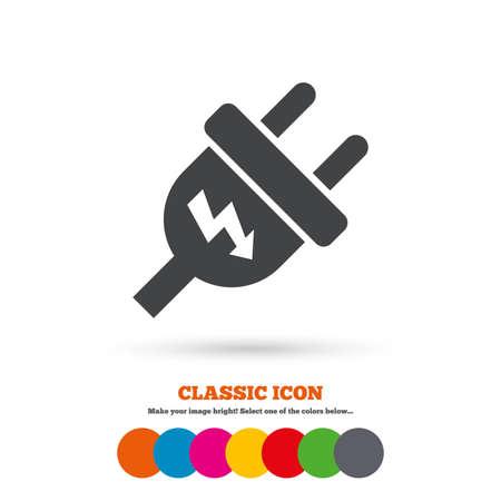 plug electric: Icono de signo de enchufe el�ctrico