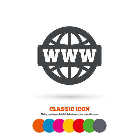 www at sign: WWW sign icon Illustration