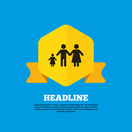 one child: Family with one child sign icon Illustration
