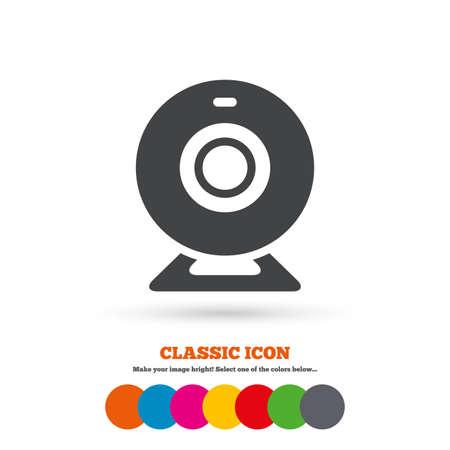 webcam: Webcam sign icon