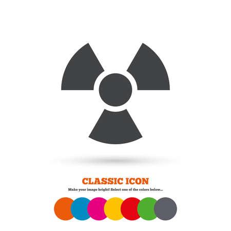 radiacion: Icono de signo de la radiaci�n