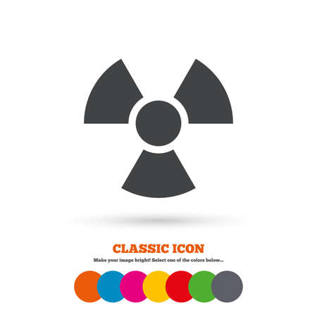 radiation sign: Radiation sign icon