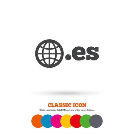 es: Domain ES sign icon Illustration