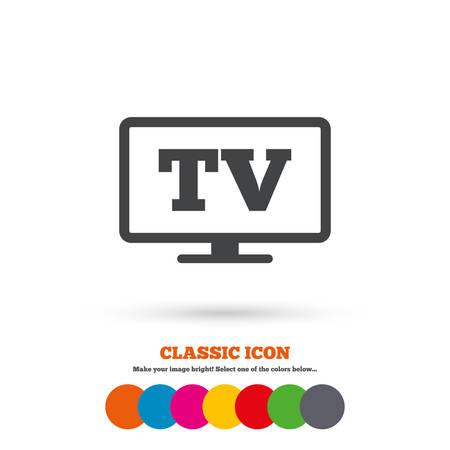 widescreen: Widescreen TV sign icon