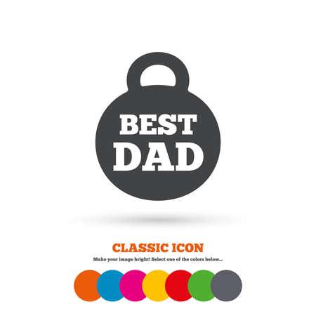 best dad: Best dad sign icon