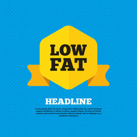 low fat: Low fat sign icon Illustration