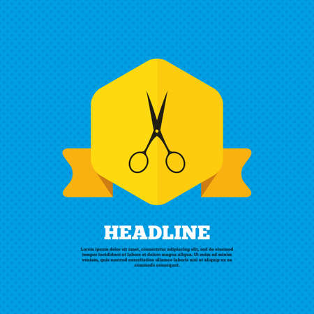 snip: Scissors hairdresser sign icon