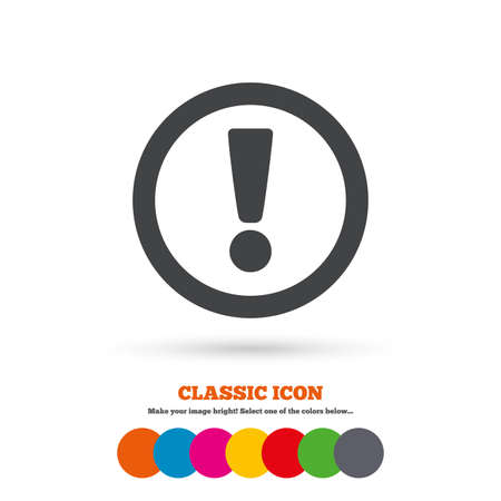 Attention sign icon Standard-Bild - 44134461
