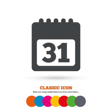 calendar icon: Calendar sign icon Illustration