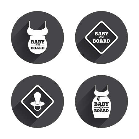 baby on board: Baby on board icons