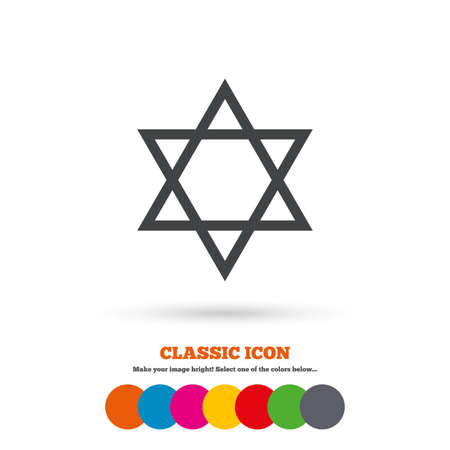 zion: Star of David sign icon