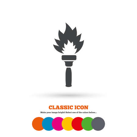 torch flame: Torch flame sign icon