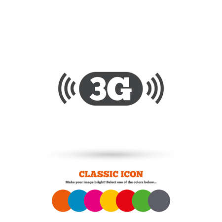 3g: 3G sign icon