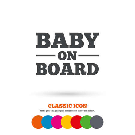 bebe a bordo: Bebé a bordo icono de la muestra