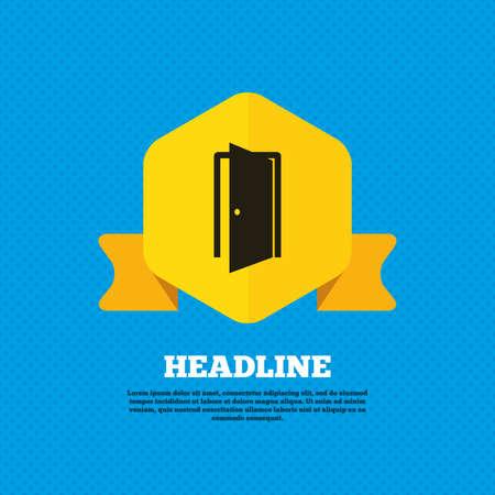 ajar: Door sign icon Illustration
