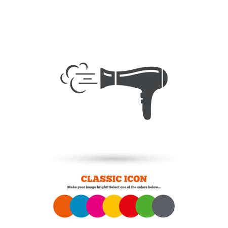 hairdryer: Hairdryer sign icon