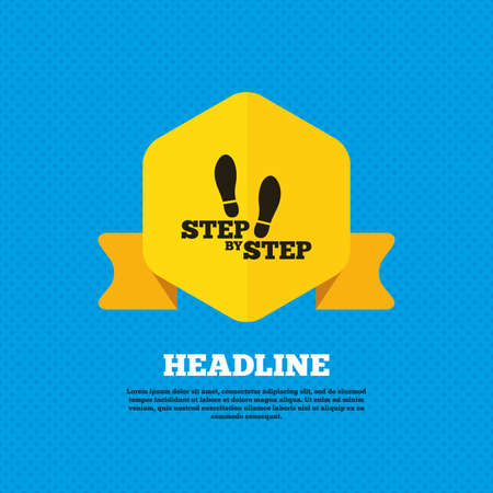 stamp seal: Step by step sign icon