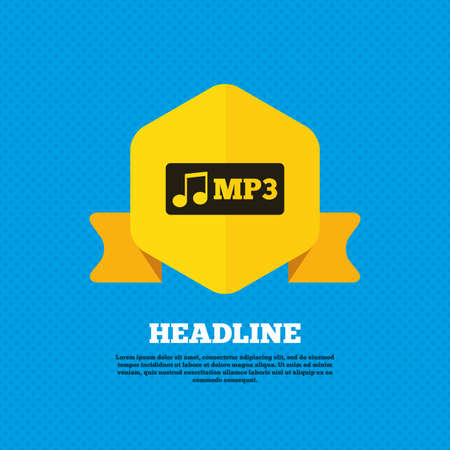 mp3: Mp3 music format sign icon