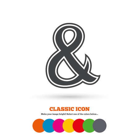 ampersand: Ampersand sign icon Illustration
