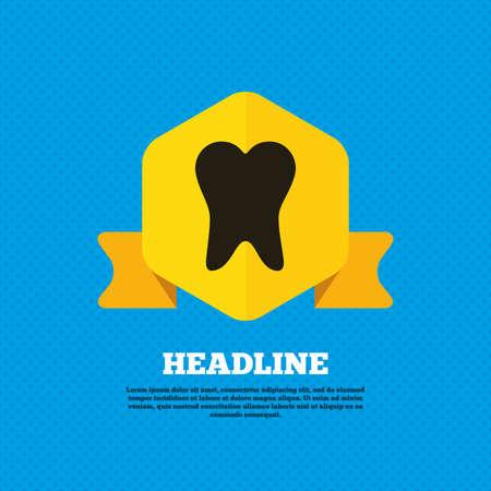 stomatologist: Tooth sign icon Illustration