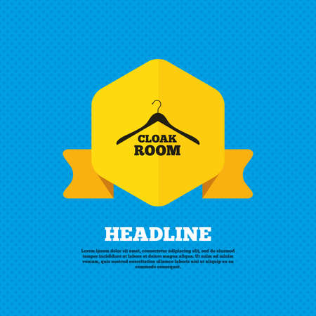 cloakroom: Cloakroom sign icon