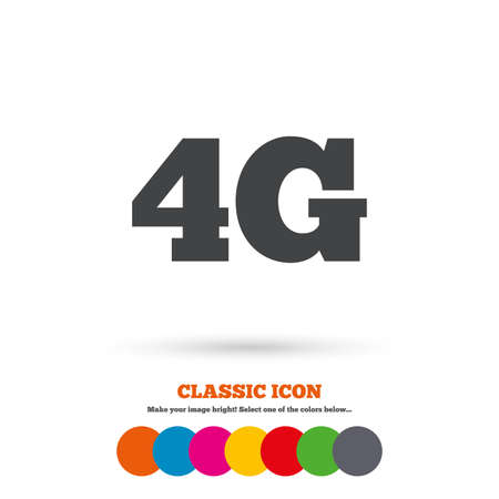 4g: 4G sign icon