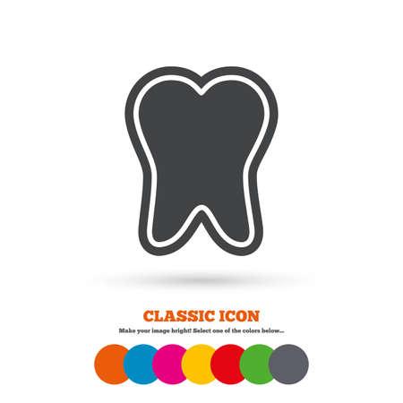 enamel: Tooth enamel protection sign icon