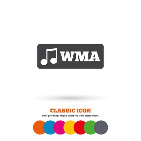 format: Wma music format sign icon Illustration