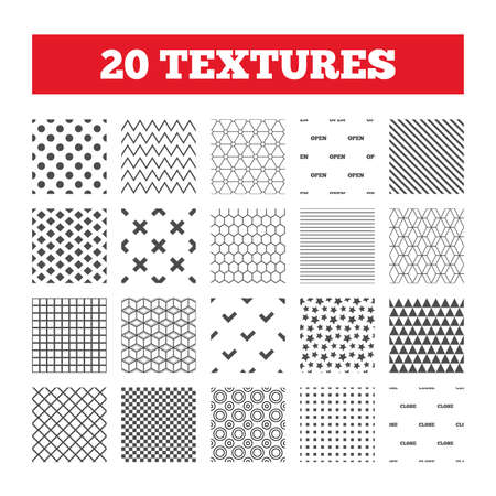 Seamless Patterns Endless Textures Open And Close Icons Check
