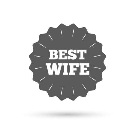 relatives: Vintage emblem medal. Best wife sign icon. Award symbol. Classic flat icon. Vector