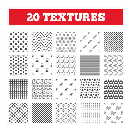 eraser mark: Seamless patterns. Endless textures. Pencil icon. Edit document file. Eraser sign. Correct drawing symbol. Geometric tiles, rhombus. Vector Illustration