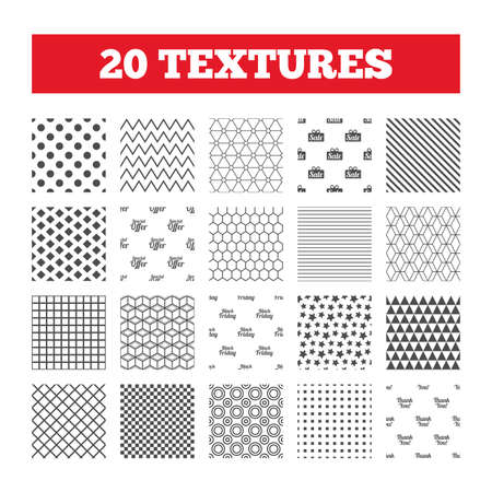 you are special: Seamless patterns. Endless textures. Sale icons. Special offer and thank you symbols. Gift box sign. Geometric tiles, rhombus. Vector