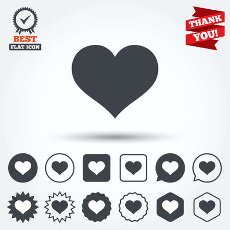 Love Icon Heart Sign Symbol Circle Star Speech Bubble And