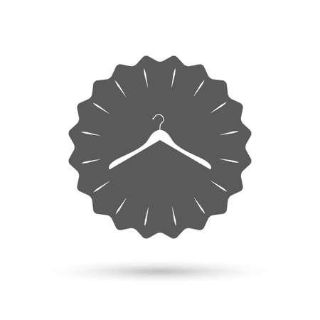 cloakroom: Vintage emblem medal. Hanger sign icon. Cloakroom symbol. Classic flat icon. Vector