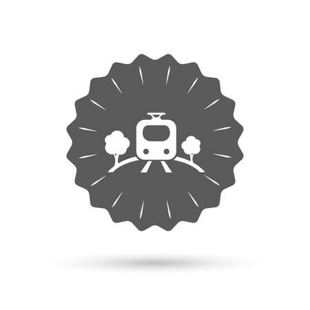 metro train: Vintage emblem medal. Overground subway sign icon. Metro train symbol. Classic flat icon. Vector Illustration