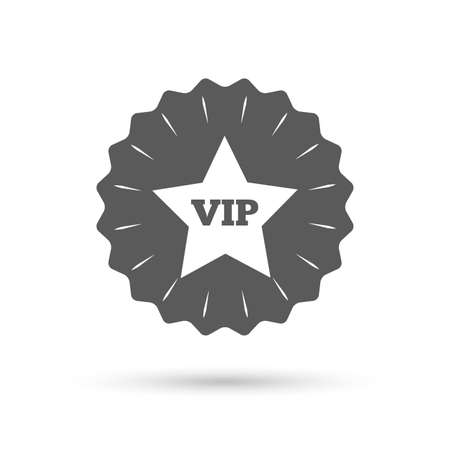 very important person sign: Vintage emblem medal. Vip sign icon. Membership symbol. Very important person. Classic flat icon. Vector