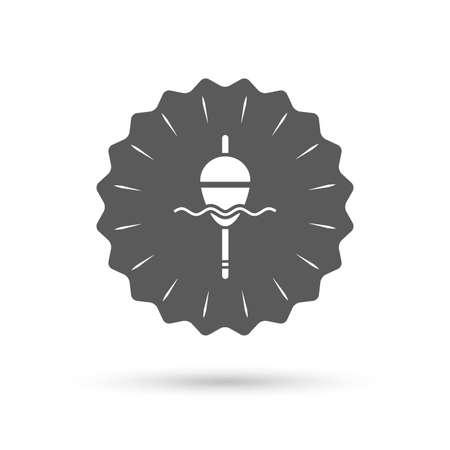 bobber: Vintage emblem medal. Fishing sign icon. Float bobber symbol. Fishing tackle. Classic flat icon. Vector