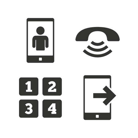 Phone Icons Smartphone Video Call Sign Call Center Support