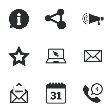 Communication Icons Contact Mail Signs E Mail Information