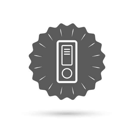 bookkeeping: Vintage emblem medal. Document folder sign. Accounting binder symbol. Bookkeeping management. Classic flat icon. Vector Illustration