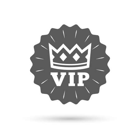 very important person: Vintage emblem medal. Vip sign icon. Membership symbol. Very important person. Classic flat icon. Vector