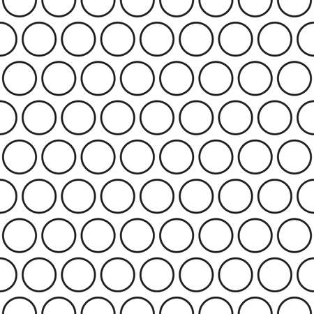 black textured background: Circles texture. Stripped geometric seamless pattern.