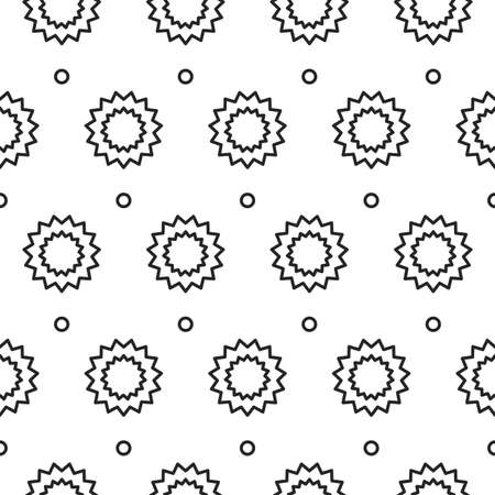 texturing: Stars with circles lines texture. Stripped geometric seamless pattern.