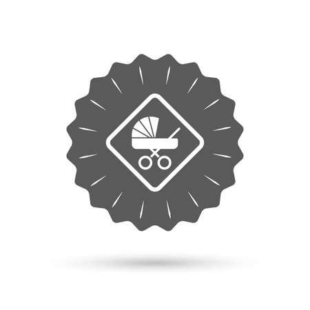 bebe a bordo: medalla de Emblema de la vendimia. Beb� a bordo icono de la se�al. Vectores