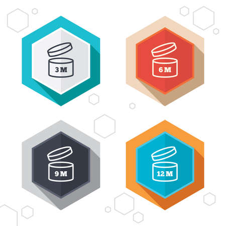 Hexagon buttons. After opening use icons.