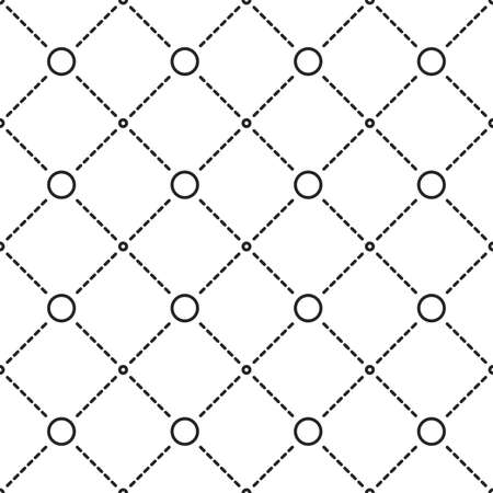 lattice frame: Circles grid texture. Stripped geometric seamless pattern.
